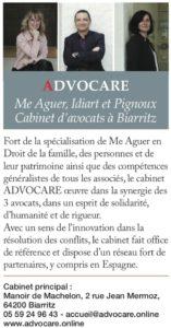 Cabinet d'avocat Advocare à Biarritz et Tarnos